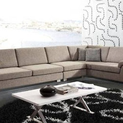 Hopkins 3-Pieced Sectional Sofa - This Hopkins 3-Pieced Contemporary Sectional Set brings versatility, style and comfort to your living room furniture collection.
