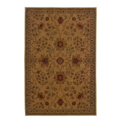 """Oriental Weavers - Traditional Allure 6'7""""x9'6"""" Rectangle Beige-Red Area Rug - The Allure area rug Collection offers an affordable assortment of Traditional stylings. Allure features a blend of natural Beige-Red color. Machine Made of Nylon the Allure Collection is an intriguing compliment to any decor."""