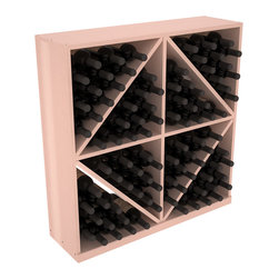 Wine Racks America - Solid Diamond Storage Bin in Redwood, White Wash + Satin Finish - This solid wooden wine cube is a perfect alternative to column-style racking kits. Holding 8 cases of wine bottles, you can double your storage capacity with back-to-back units without requiring more access area. This rack is built to last. That is guaranteed.