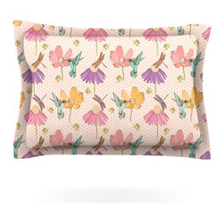"""Kess InHouse - Laura Escalante """"Magic Garden"""" Pillow Sham (Cotton, 30"""" x 20"""") - Pairing your already chic duvet cover with playful pillow shams is the perfect way to tie your bedroom together. There are endless possibilities to feed your artistic palette with these imaginative pillow shams. It will looks so elegant you won't want ruin the masterpiece you have created when you go to bed. Not only are these pillow shams nice to look at they are also made from a high quality cotton blend. They are so soft that they will elevate your sleep up to level that is beyond Cloud 9. We always print our goods with the highest quality printing process in order to maintain the integrity of the art that you are adeptly displaying. This means that you won't have to worry about your art fading or your sham loosing it's freshness."""