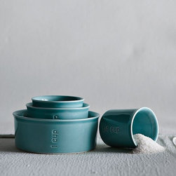 Sea Measuring Cups - I love how these measuring cups could easily double as pretty table pieces for salsa, salt or other condiments.