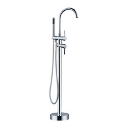 "AKDY - AKDY AK-Z8723 Freestanding Modern Chrome Tub Faucet with Hand Shower, 46"" - Model number: AK-Z8723"