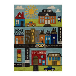 Momeni - Momeni Lil mo whimsy LMJ12 Area Rug - Town Multicolor - LMOJULMJ12TOW2030 - Shop for Doormats Rugs and Runners from Hayneedle.com! About Momeni RugsMomeni a family name a mark of quality and an expert source of ideas for making your home come alive with true timeless beauty was established half a century ago when Ali A. (Haji) Momeni started a family business bringing exquisite Persian carpets to the United States. Though styles have come and gone behind them all is the fundamental principle that Momeni rugs are created to touch our senses. From concept through production a family member is there making sure that the highest standards are being met. This Momeni standard of quality elegance and sophistication has been recognized time and time again with America's Magnificent Carpet Award.
