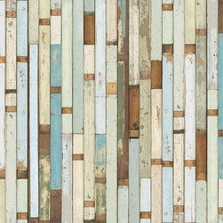 Scrapwood Wallpaper-03 Piet Hein Eek - This beautiful wallpaper by artist Piet Hein Eek recalls the scraps of old wooden boats, lending a rustic coastal look to any wall in your home.