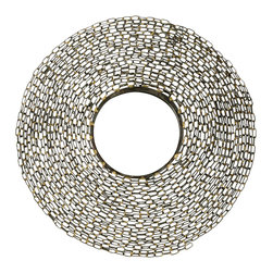 Safavieh - Jeweled Chain Mirror MIR4009A - It's the link to contemporary decor: The round Jeweled Chain wall mirror. The natural color and artisan hand-wrought iron frame make this urban spin on the sunburst mirror a fresh new focal point in any room.
