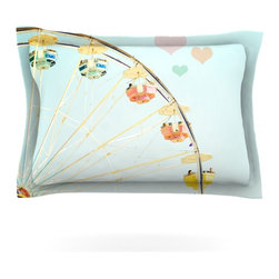 "Kess InHouse - Bree Madden ""Fair Love"" Pillow Sham (Cotton, 30"" x 20"") - Pairing your already chic duvet cover with playful pillow shams is the perfect way to tie your bedroom together. There are endless possibilities to feed your artistic palette with these imaginative pillow shams. It will looks so elegant you won't want ruin the masterpiece you have created when you go to bed. Not only are these pillow shams nice to look at they are also made from a high quality cotton blend. They are so soft that they will elevate your sleep up to level that is beyond Cloud 9. We always print our goods with the highest quality printing process in order to maintain the integrity of the art that you are adeptly displaying. This means that you won't have to worry about your art fading or your sham loosing it's freshness."