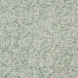 Green Ivory, Pastel Floral Leaves Jacquard Woven Upholstery Fabric By The Yard - Botanical upholstery fabrics with the look of this one, add a unique appearance to any furniture. This material's colors look pastel, and blend perfectly together.