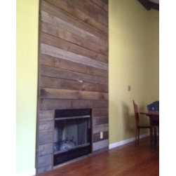 Weathered White Pine Fireplace Surround - Weathered White Pine Fireplace Surround