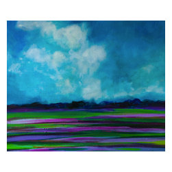 Bryan Boomershine Art - Original Landscape Painting Lavender Fields - Title: Fields of Lavender