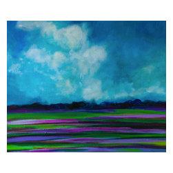 Bryan Boomershine Art - Original Original Landscape Painting Lavender Fields - Title: Fields of Lavender