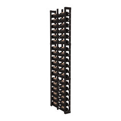 """Wine Racks America - 1 Column Double Deep Cellar in Redwood, Black - Wine storage capacity to the next level. Fit 3 cases of wine on less than 5"""" of wall space! This narrow wine rack is perfect for creating maximum storage capacity from every little nook and cranny without requiring more wall space. This rack is built to last. Guaranteed."""