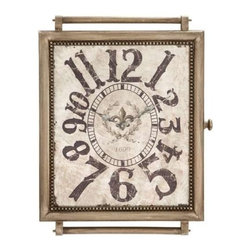 "Benzara - Designed Wood Wall Clock in Crafty and Arty Look - Designed Wood Wall Clock in Crafty and Arty Look. An ideal addition to your living space, this wood Wall clock embellishes any Wall with its vintage elements. It comes with a following dimensions 18"" W x 1. 5"" D x 24"" H."