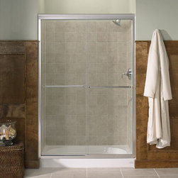 """Kohler - Kohler K-702208-L-MX Matte Nickel Fluence Fluence Frameless Bypass - Fluence 47-5/8""""W x 70-5/16""""H Frameless Bypass Bath Tub Door with Crystal Clear Glass and Towel BarsThe Fluence bypass bath door features a Eurostyle frameless design with Crystal Clear(TM) 1/4""""-thick tempered glass. Designed to accommodate out-of-plumb installations, this door features a continuous panel guide for smooth, quiet sliding action.70-5/16""""H x 44-5/8"""" - 47-5/8""""W1/4"""" frameless, thick Crystal Clear tempered glassCleanCoat(TM) glass coating repels water for easy cleanupContinuous door panel guide mechanism for smooth, quiet sliding actionStainless steel hardware prevents rusting or corrosionGently curved inside and outside towel barSmooth, easy-to-clean wall jambs"""