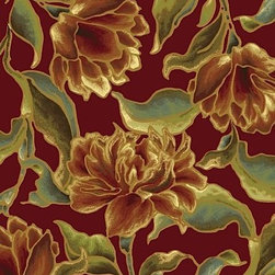 """Kas - Country & Floral Versailles 2'2""""x3'7"""" Rectangle Red Area Rug - The Versailles area rug Collection offers an affordable assortment of Country & Floral stylings. Versailles features a blend of natural Aqua color. Machine Made of 100% Viscose the Versailles Collection is an intriguing compliment to any decor."""