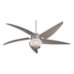 """Minka Aire - Minka Aire F579-L-BNW Magellan Brushed Nickel Wet 60"""" Outdoor Ceiling Fan - Indoor or Outdoor Use"""