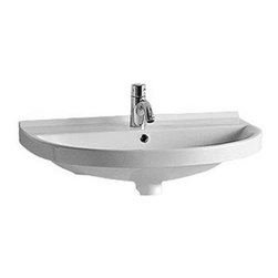Whitehaus - Whitehaus Lu014 23 U-Shaped Wall Mount Basin - This sink will bring sophistication to any bathroom. You'll love the space of the basin. Dress it up or dress it down; this sink is your ticket to style.