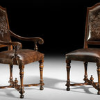 Italian Leather Dining Chairs - GV-84 Chairs