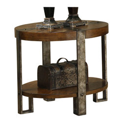 Riverside Furniture - Riverside Furniture Sierra Round End Table in Landmark Worn Oak - Riverside Furniture - End Tables - 3409 - The Arkansas River Valley is home of majestic forests, ruggedly beautiful mountains, gurgling brooks and swiftly flowing rivers. It is also the home of Riverside Furniture Corporation. But like they would with any old friend, most folks refer to us just by our first name.
