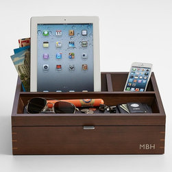Wood Charging Station Plus Valet - What I love about this valet box is that it's also a charging station. I can't even tell you how handy this would be for my husband's many gadgets.