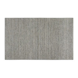 Uttermost - Uttermost Dacian 9 x 12 Rug - White 73059-9 - Hand spun silvery white viscose with black striations.