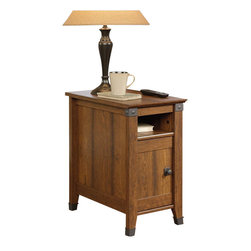 Sauder - Sauder Carson Forge Side Table in Washington Cherry - Sauder - End Tables - 414675 - About The Carson Forge Collection: