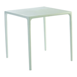 Siesta - Mango Square Dining Table 28 Inch (set Of 1) - *Made from commercial grade resin with gas injection molded legs, with non-skid rubber caps.