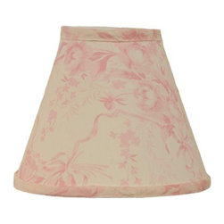 Cotton Tale Designs - Heaven Sent Girl Lampshade - A quality baby bedding set is essential in making your nursery warm and inviting. All Cotton Tale patterns are made using quality materials and are uniquely designed to create your perfect nursery. Part of the Heaven Sent Girl collection is the standard lampshade. The lampshade is of floral cream and pink . Shade measures 8 in.  in height with a 4 in.  diameter on top and 9 in.  in diameter at the base. Spot clean only.