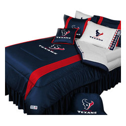 Store51 LLC - NFL Houston Texans Football Twin-Single Bed Comforter Set - Features: