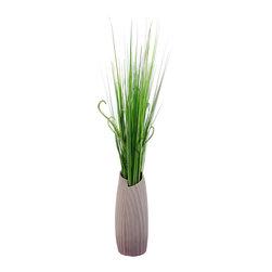 Vickerman - Bullet Vase w/grass - Bullet Vase w/grass