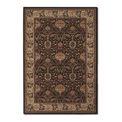 """Couristan - Everest 9'2"""" x 12'5"""" Rectangle Traditional - Everest Herati Palm 6384-3767-Chocolate  9.2x12.5"""