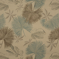 Tan Brown And Teal Floral Leaves Indoor Outdoor Upholstery Fabric By The Yard - P701012 is great for residential and commercial applications, and can be used outdoors and indoors. This fabric will exceed at least 35,000 double rubs (15,000 is considered heavy duty), and is easy to clean and maintain. In addition, this product is stain, water, mildew, bacteria and fade resistant. For superior quality and performance, this fabric is woven and solution dyed.