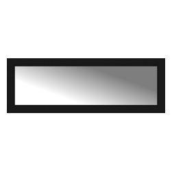 """Posters 2 Prints, LLC - 49"""" x 17"""" Soho Black Custom Framed Mirror - 49"""" x 17"""" Custom Framed Mirror made by Posters 2 Prints. Standard glass with unrivaled selection of crafted mirror frames.  Protected with category II safety backing to keep glass fragments together should the mirror be accidentally broken.  Safe arrival guaranteed.  Made in the United States of America"""