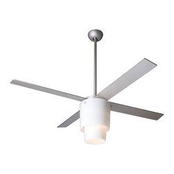 """Modern Fan Company - Modern Fan Company Halo Textured Nickel 52"""" Ceiling Fan - Features:"""