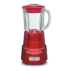 Cuisinart - Cuisinart SPB-600MR Metallic Red SmartPower Deluxe Die Cast Blender - Color: Red Sleek 4-speed electronic touchpad controls with blue indicators Standby mode; automatic 2-minute auto-stop feature
