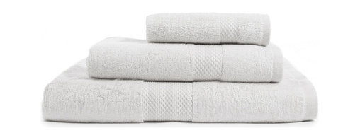 """Bambeco Organic Combed Cotton Pure White Towel Set - Crafted to plush perfection, our 100% organic cotton towels offer durable construction, ultra-absorbency, and a naturally luxurious feel. These towels are made from the finest organic combed cotton, which means all the shorter and breakable cotton fibers have been combed out, producing an extremely soft and long-lasting towel. The Organic Combed Cotton Pure White Towels are GOTS certified in a production process that captures all wastewater and emissions. Available colors: Pure White, Chocolate, Dreamy Blue, Ecru, Gray. Sets Include: 1 Wash Cloth 13"""" sq., 1 Hand Towel 15"""" x 30"""", 1 Bath Towel 30"""" x 56""""."""
