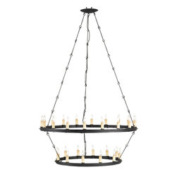 Currey and Company - Toulouse Chandelier - Refresh the personality of your interior with this classic chandelier crafted of wrought iron. Its minimal, eye-catching design allows light to radiate without overtaking your visual space.