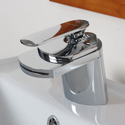 Elite - ELITE Single Handle Chrome Bathroom Sink Faucet - This bold faucet boasts a modern European design, adding a unique touch to any decor. This single handle bathroom faucet features a chrome finish.