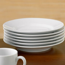 Great White Dessert Plate - White dessert plates could really complete a coffee bar. A little snack, croissant or muffin goes great with coffee.