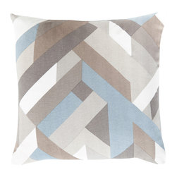 """Surya - Surya TO-014 Pillow, 18"""" x 18"""", Poly Fiber Filler - Blending the marvelous elements of modern decor with a muted, dusty color palette, this truly perfect pillow will craft an ideal addition to your space. Hand made in India, a layer of glamour can be found in the multidimensional geometric designs found within this perfect pillow, each radiating a unique level of pattern and style from room to room within any home decor."""
