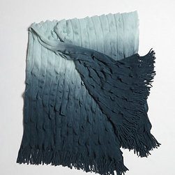 Ombré Flutter Throw, Blue - I love this ombré throw for the end of the bed. It's perfect for cozy study days.