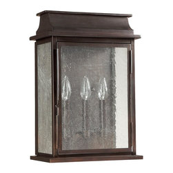 Capital Lighting - Capital Lighting 9663OB Bolton 3 Light Outdoor Wall Sconce - Beginning with design concepts from popular home fashions, they transform their ideas into lighting fixtures that blend timeless beauty with today's styling.