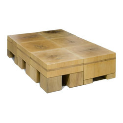 Multi-use Coffee Table-Stools - Stools made of solid reclaimed wood. They can be used in many different ways - as stools, coffee table, side table or benches.