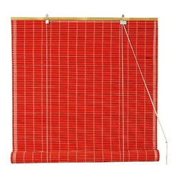 Oriental Unlimited - Bamboo Roll Up Blinds in Red (24 in. Wide) - Size: 24 in. Wide. Bright and attractive with an island inspired appeal, these environmentally friendly bamboo blinds will bring a tropical appeal to any decor. Relaxed and casual, the blinds are available in your choice of size option and will be a durable choice for your window treatment. Bamboo roll up blinds are a versatile addition to any window. They will fit in with any decor. Easy to hang and operate. 24 in. W x 72 in. H. 36 in. W x 72 in. H. 48 in. W x 72 in. H. 60 in. W x 72 in. H. 72 in. W x 72 in. H