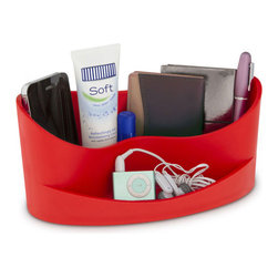 j-me designs - Casa Organizer , Red - Add some style to your desk with the Casa Organizer. This subtly stylish yet incredibly practical desk organizer keeps all your essentials conveniently stored together. The spacious rear section has the capacity to hold wallets, sunglasses, mobile phones, music players and more. The front holds smaller items such as loose change, keys, memory sticks & other pocket clutter.