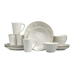 Marin White 16-Piece Dinnerware Set