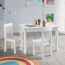 Lipper Mystic Table and Chair Set - White - Give them their own space to create with the Lipper Mystic Table and Chair Set - White. This table and two chair set is perfect for little ones who like to draw write color or do anything else creative. Crafted of super-sturdy wood and engineered wood this classic set is finished in crisp white making it a beautiful addition to any playroom. After they've completed their masterpieces simply clean the table with a damp cloth and mild soap and water. This set is sure to be a favorite for years to come. About Lipper InternationalLipper International provides exceptionally valued kitchen home & office organizers including the Soho Spice Collection; single-serve coffee pod organizers; kitchen pantryware cutting boards and tools; serving & entertaining accessories; and children's furniture and toy chests. Lipper uses the finest quality materials including stainless steel bamboo acacia wood chrome- and powder-coated metals and other fine-quality hardwoods. Known for product functionality as well as beauty and quality craftsmanship Lipper International combines quality style service and price into every product and collection it offers.