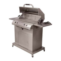 Electri-Chef - Electri-Chef 32 in. Electric Grill with Cart - Dual Burner Multicolor - 4400-EC- - Shop for Grills from Hayneedle.com! What We Like About This Grill Cook with the precision accuracy of electric heat and prepare your favorite delights to your exact specifications. The huge 448-square-inch cooking surface accommodates enough food for the neighborhood and will make backyard barbecues a hit. Enjoy the consistent 150 to 600 degree cooking area and gently cook seafood or sear in the flavor of a filet with this Electric 32-inch Dual Control Grill with Cart. Premium quality materials are the hallmark of this grill and durable heavy-gauge stainless steel construction ensure lasting use. The folding side shelves provide not only a convenient place to keep plates of food handy but also tuck neatly away when not in use. Four casters on the cart make it easy to move this grill anywhere on the patio and then lock in place so it stays put. Stainless steel grill grids cook food evenly and then fit into your dishwasher to make it easy to clean. The cart also features an 18 x 18 inch steel door that opens to reveal a storage area for all of your accessories Enjoy the convenience of a 10 to 60 minute timer that will remind you when burgers need to be flipped or when vegetables need to go on while you're entertaining your guests. The removable grease trays catch any meat drippings and then come out for ease of cleanup. The grill's lid features a cool-touch handle that maintains a low temperature even after hours of cooking. A built-in warming rack allows you to put food on hold for ease of cooking steaks or burgers to different temperatures. Dual controls allow you to cook a variety of food at once by keep each side at a different temperature. With the conveniences you want and quality construction you demand this Electric 32-inch Dual Control Grill with Cart is the ideal choice for your backyard. About Electri-Chef GrillsElecti-Chef Grills are designed and crafted in Temple Texas- right in the heart of barbecue country. Electri-Chef proudly makes their flameless electric grills in the U.S.A. Their expertly crafted commercial-quality products have been selected for use at resort hotels and condominiums throughout the United States. With Electri-Chef Grills customers enjoy resilient top-grade materials substantial energy savings and most importantly delectable food that's grilled to perfection time and time again.