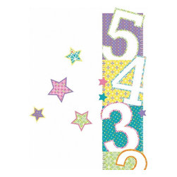 York Wallcoverings - Patterned Numbers Growth Chart Large Wall Accent Set - Features: