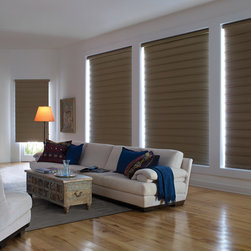 Vignette® Tailored™ Modern Roman Shades with UltraGlide® - Hunter Douglas Vignette® Collection Copyright © 2001-2012 Hunter Douglas, Inc. All rights reserved.