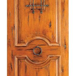 """Prehung, Knotty Alder Round Top Front Door, Speakeasy Door Knob - SKU#SW-84BrandAAWDoor TypeExteriorManufacturer CollectionWestern-Santa Fe Entry DoorsDoor ModelDoor MaterialWoodWoodgrainKnotty AlderVeneerPrice2207.2Door Size Options36"""" x 84"""" (3'-0"""" x 7'-0"""")  $030"""" x 96"""" (2'-6"""" x 8'-0"""")  $032"""" x 96"""" (2'-8"""" x 8'-0"""")  $036"""" x 96"""" (3'-0"""" x 8'-0"""")  +$16042"""" x 96"""" (3'-6"""" x 8'-0"""")  +$320Core TypeSolidDoor StyleRound Top , RusticDoor Lite StyleDoor Panel Style2 Panel , Raised Moulding , Raised PanelHome Style MatchingSouthwest , Log , Pueblo , WesternDoor ConstructionTrue Stile and RailPrehanging OptionsPrehungPrehung ConfigurationSingle DoorDoor Thickness (Inches)1.75Glass Thickness (Inches)Glass TypeGlass CamingGlass FeaturesGlass StyleGlass TextureGlass ObscurityDoor FeaturesDoor ApprovalsDoor FinishesDoor AccessoriesSpeakeasy , Door KnockerWeight (lbs)340Crating Size25"""" (w)x 108"""" (l)x 52"""" (h)Lead TimeSlab Doors: 7 daysPrehung:14 daysPrefinished, PreHung:21 daysWarranty1 Year Limited Manufacturer WarrantyHere you can download warranty PDF document."""